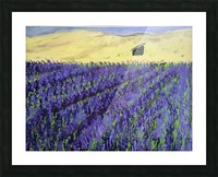 Purple Lavender fields painting Picture Frame print
