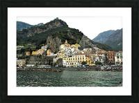 Italian Village Landscape - Amalfi Picture Frame print