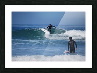Guy Surfing In California Picture Frame print