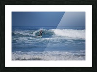 The Lone Surfer Picture Frame print