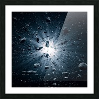 Big Bang explosion in space Picture Frame print