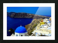 Santorini  - Super Colorful Landscape Picture Frame print