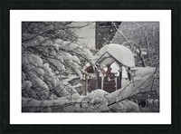 Red Playground Under Snow Picture Frame print