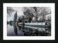 River and boats Picture Frame print