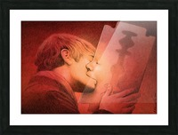 kiss Picture Frame print