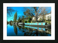 River and Boats - London  Picture Frame print