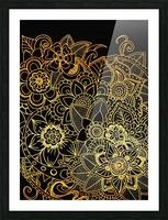 Floral Doodle Gold G523 Picture Frame print