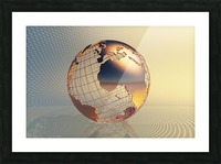 World global business background Picture Frame print