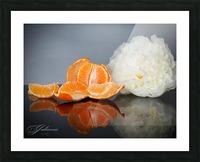 Orange sparkle  Picture Frame print