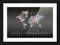 Graphic Art CRAZY WANDERLUST   Splashes Picture Frame print