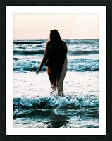 blue sea Picture Frame print