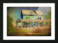 Valentine House Oil Picture Frame print