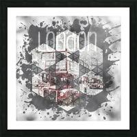 Graphic Art LONDON Streetscene Picture Frame print