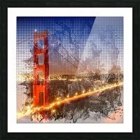 Graphic Art Golden Gate Bridge   watercolour style Picture Frame print
