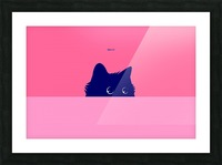 Cat on Deep Pink Picture Frame print