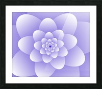 Purple Floral Spiral Artwork Picture Frame print