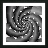 3d Abstract Spiral Design Picture Frame print