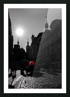 Le parapluie rouge Picture Frame print