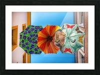 La ruelle des parapluies Picture Frame print