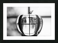 L'hiver est dans la pomme Picture Frame print