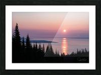 Aurore du Massif de Petite Rivière St François Picture Frame print