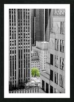 Forêt urbaine Picture Frame print
