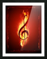 Hot Music Picture Frame print