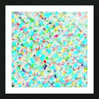 splash painting texture abstract background in blue yellow green red pink Picture Frame print
