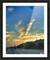Cloud Whirlwind, California Picture Frame print