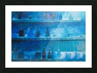Still Life in Blue Picture Frame print