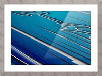 Diagonally Blue Picture Frame print