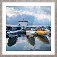 Dawn at the Marina Picture Frame print