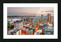View from above the beautiful twilight in megalopolis Picture Frame print