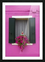 Colored window in Burano Picture Frame print