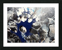 BLACK AND BLUE Picture Frame print