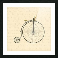 Vintage Penny Farthing Bunny Picture Frame print