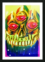 Three eyed skull painting Picture Frame print