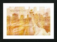 Graphic Art MANHATTAN Collage | golden Impression et Cadre photo