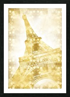 EIFFEL TOWER | golden illusion Picture Frame print