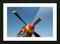 P-51 Mustang Propeller Picture Frame print