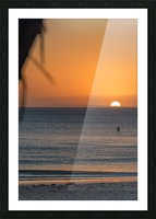 Taking a moment to watch the sunrise Picture Frame print