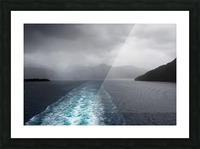 Leaving Fiordland New Zealand Picture Frame print