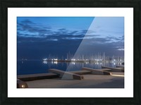 Blue Pre Dawn Marina Picture Frame print