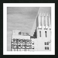 B&W Jesus Saves Building - DTLA Picture Frame print