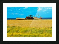Beach Tractor Picture Frame print