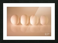 White Egg On Canvas warm light version Picture Frame print