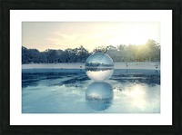 crystal ball on frozen lake Picture Frame print