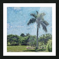 A Monet style Palm Picture Frame print