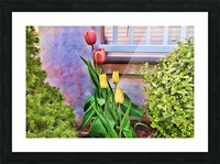Painted Tulips Picture Frame print