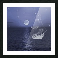 Ghost Ship Picture Frame print